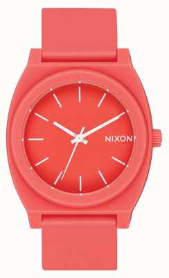 Nixon Time Teller p | corail mat | bracelet en silicone corail | cadran corail A119-3013-00
