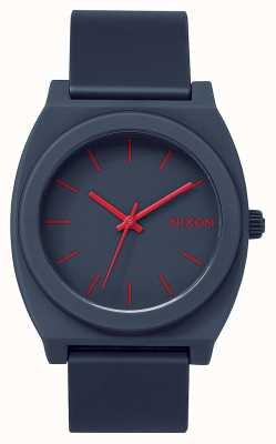 Nixon Time Teller p | marine mat | bracelet en silicone bleu marine | cadran bleu marine A119-692-00