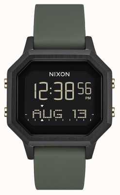 Nixon Siren ss | noir / fatigue | numérique | silicone noir | A1211-178-00