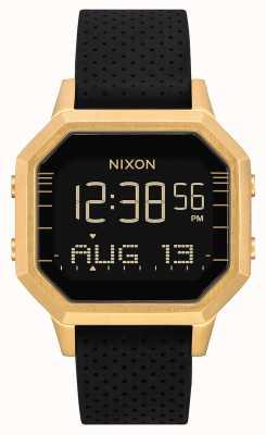 Nixon Siren ss | or / noir lh | numérique | bracelet en silicone noir A1211-2970-00