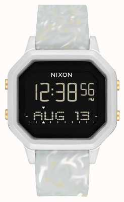 Nixon Siren ss | marbre argenté / gris | numérique | bracelet en silicone couleur marbre A1211-3413-00