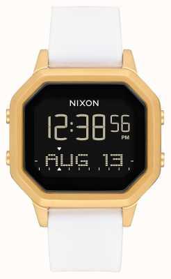 Nixon Siren ss | or / blanc | numérique | bracelet en silicone blanc A1211-508-00