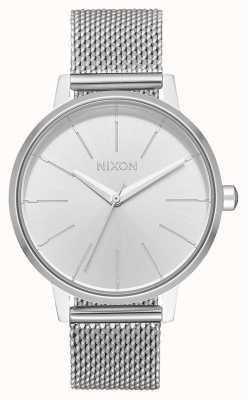 Nixon Kensington milanese | tout argent | maille en acier inoxydable | cadran argenté A1229-1920-00