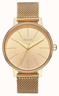 Nixon Kensington milanese | tout l'or | maille en acier ip or | cadran en or A1229-502-00