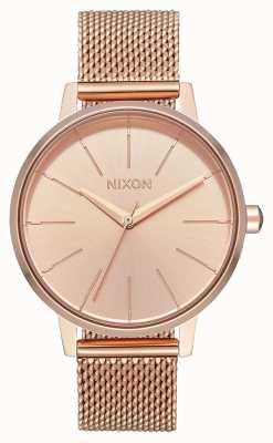 Nixon Kensington milanese | tout en or rose | maille ip or rose | cadran en or rose A1229-897-00