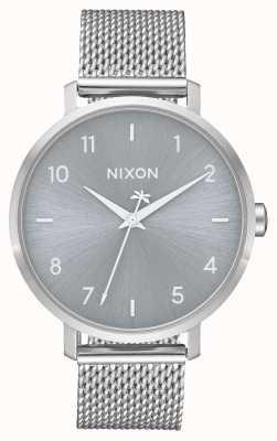 Nixon Arrow milanese | tout argent | maille en acier inoxydable | cadran argenté A1238-1920-00