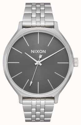Nixon Clique | tout argent / gris | bracelet en acier inoxydable | cadran argenté A1249-2762-00