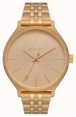 Nixon Clique | tout l'or | bracelet en acier ip or | cadran en or A1249-502-00
