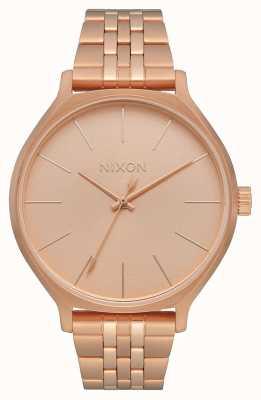 Nixon Clique | tout en or rose | bracelet en acier ip or rose | cadran en or rose A1249-897-00