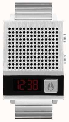 Nixon Dork aussi | noir | numérique | bracelet en acier inoxydable | parlant A1266-000-00