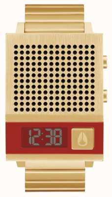 Nixon Dork aussi | tout l'or | numérique | bracelet en acier ip or | parlant A1266-502-00