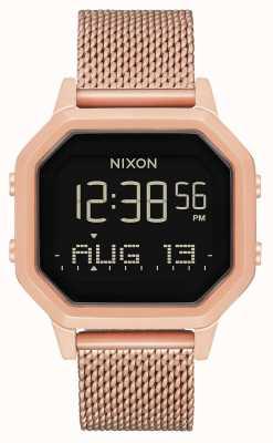 Nixon Siren milanese | tout en or rose | numérique | maille en acier ip or rose | A1272-897-00