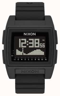 Nixon Base marée pro | noir | numérique | bracelet en silicone noir | A1307-000-00
