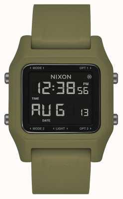 Nixon Agrafe | olive | numérique | bracelet en silicone vert olive A1309-333-00
