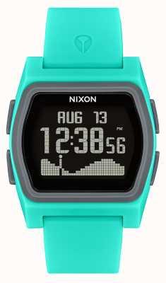 Nixon Rival | turquoise | numérique | bracelet en silicone turquoise A1236-309-00