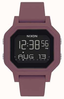 Nixon Siren | bordeaux | numérique | bracelet en silicone bordeaux A1311-234-00