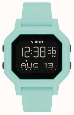 Nixon Siren | aqua | numérique | bracelet en silicone turquoise A1311-2930-00