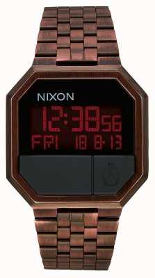 Nixon Réexécuter | cuivre antique | numérique | bracelet en acier ip couleur cuivre A158-894-00