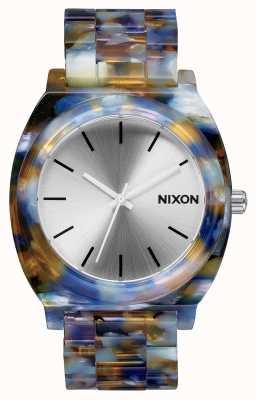 Nixon Time Teller acétate | acétate aquarelle | cadran argenté A327-1116-00