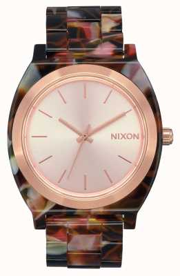Nixon Time Teller acétate | or rose / tortue rose | cadran en or rose A327-3233-00