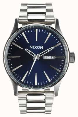 Nixon Sentry ss | rayon de soleil bleu | bracelet en acier inoxydable | cadran bleu A356-1258-00