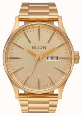 Nixon Sentry ss | tout l'or | bracelet en acier ip or | cadran en or A356-502-00
