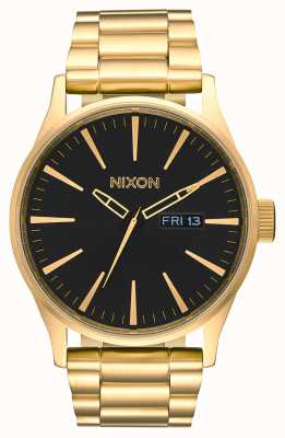 Nixon Sentry ss | tout or / noir | bracelet en acier ip or | cadran noir A356-510-00
