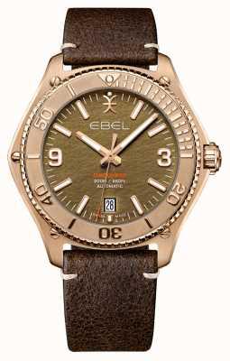 EBEL Edition limitée découverte bronze homme | bracelet en cuir de veau marron | 1216471