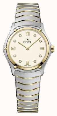 EBEL Classique du sport féminin | bracelet en acier inoxydable bicolore | cadran ivoire 1216418A