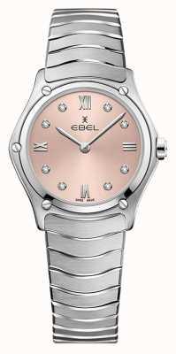 EBEL Classique du sport féminin | bracelet en acier inoxydable | cadran galvanique rose 1216444A