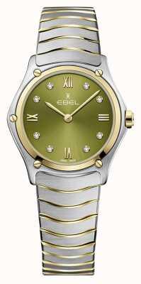 EBEL Classique du sport féminin | bracelet en acier bicolore | cadran vert 1216473A