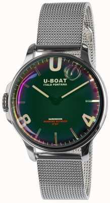 U-Boat Bracelet en métal SS noir de Sombrelune 38 mm 8471/MT