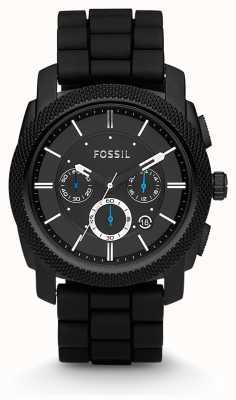 Fossil Gents noir chronographe bracelet FS4487