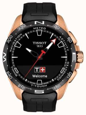 Tissot T-touch connect solaire | bracelet en silicone noir T1214204705102
