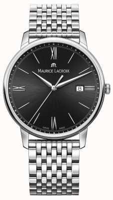 Maurice Lacroix Eliros pour hommes | bracelet en acier inoxydable | cadran noir EL1118-SS002-310-2