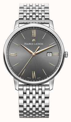 Maurice Lacroix Eliros pour hommes | bracelet en acier inoxydable | cadran noir / gris EL1118-SS002-311-2