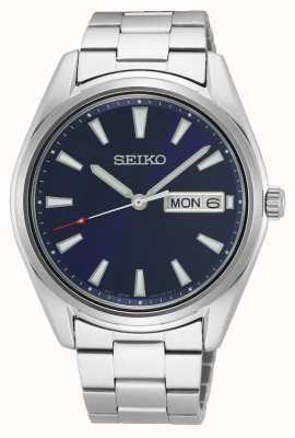 Seiko Bracelet homme en acier inoxydable | cadran bleu SUR341P1