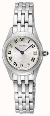 Seiko Bracelet femme en acier inoxydable | cadran argenté SWR037P1