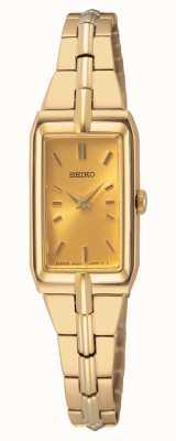 Seiko Bracelet en acier doré pour femme | cadran en or SWR048J8