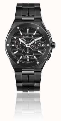 Michel Herbelin Cap camarat chrono | bracelet en acier noir | cadran noir 37645/BN14