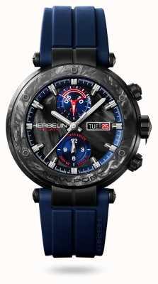 Michel Herbelin Newport régate carbone | bracelet en silicone bleu | boîtier en carbone 288/CN45CB