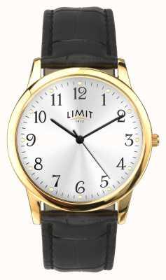 Limit Boîtier en or Bracelet effet croco noir 38 mm 5953.01