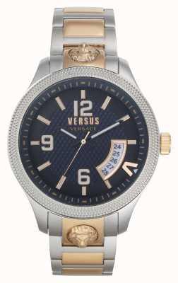 Versus Versace | hommes | reale | bracelet en acier bicolore | cadran bleu | VSPVT0920