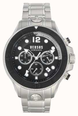 Versus Versace Hommes volta versus | bracelet en acier inoxydable | cadran noir VSPVV0420