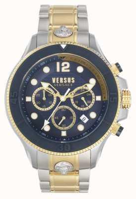 Versus Versace Hommes volta versus | bracelet en acier bicolore | cadran bleu VSPVV0520