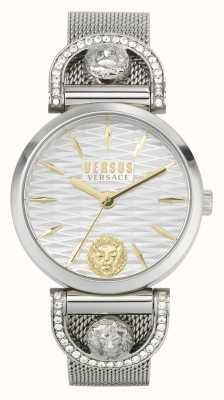 Versus Versace Iseo femmes | bracelet en maille d'acier inoxydable | cadran blanc VSPVP0420