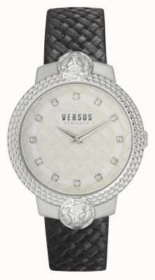 Versus Versace | femmes | mouffetard | bracelet en cuir noir | cadran blanc | VSPLK1120