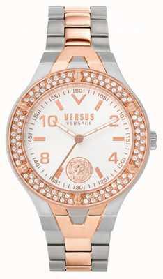 Versus Versace Vittoria pour femmes | bracelet en acier bicolore | cadran blanc VSPVO0620