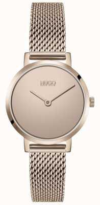 HUGO #cherish | bracelet en maille pvd or rose | cadran en or 1540085