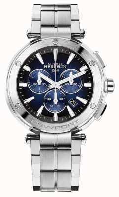 Michel Herbelin Chronographe newport pour homme | bracelet en acier inoxydable | 37688/B35